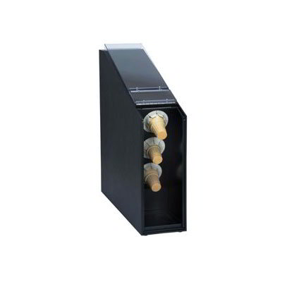 Dispense-rite CTCD-3BT Countertop Ice Cream Cone Dispenser w/ Hinged Door, Polystyrene, Black