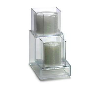 "Dispense-rite CTVL2 Lid Organizer, Vertical, 2 Section: (1) 4""& (1) 5 in, 6""W, Acrylic, Clear"