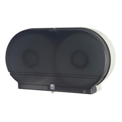 Dispense-rite DJTD1 Toilet Tissue Dispenser, Double, Fits 9 in Jumbo Rolls, 5-3/8 in Core