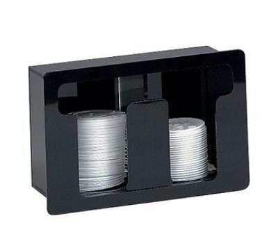 Dispense-Rite FML2 Lid Dispenser, Built-In, 2 Section, Acrylic Black