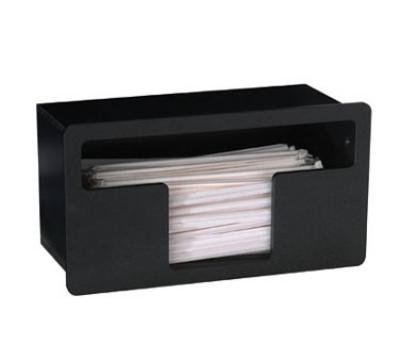 Dispense-rite FMTS1BT Straw Holder, Built-In, Wrapped Straws, Polystyrene, Black