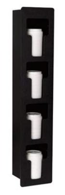 Dispense-rite FMVL4 Lid Dispenser, Built-In, 4 Section, Polystyrene, Black