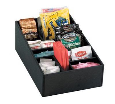 Dispense-rite MICRO1 Self Serve Organizer, Micro, Removable Dividers, Black Polystyrene