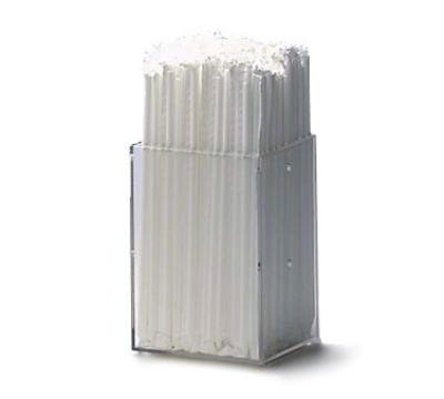 Dispense-Rite MSH1 Straw Holder, Modular, 6 H x 4 x 4 in, Acrylic, Clear