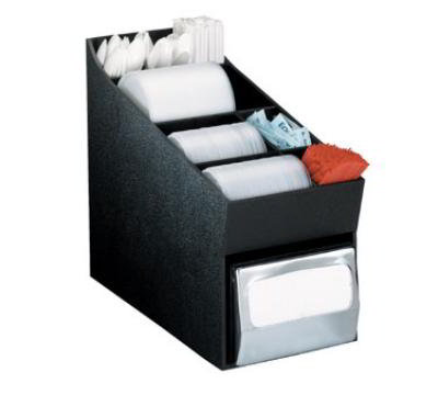 "Dispense-rite NLOLDNH Lid, Straw, Condiment & Napkin Organizer, 4-1/2 to 5x6-1/2"" Full Fold Napkins"
