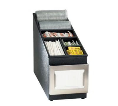 Dispense-rite NSLC1BT Lid, Straw & Condiment Organizer, Poly w/ ABS Top, SS Napkin Dispenser