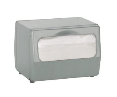 Dispense-rite TTFULLBS Napkin Dispenser, Full Fold 4-1/2 to 5 x 6-1/2 in, 2 Sided, Brushed Satin Steel