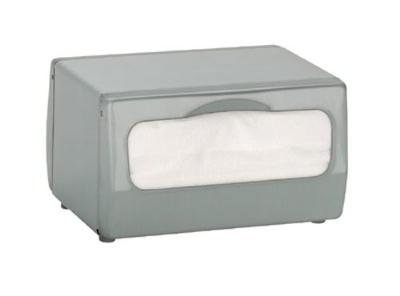 Dispense-Rite TTMINIBS Napkin Dispenser, Low Fold 3-3/4 x 6-1/2 in, 2 Sided, Brushed Satin Steel