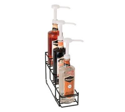 Dispense-Rite WRBOTL3 Bottle Organizer, Wire Rack, 3 Section, Reinforced Welded, Black