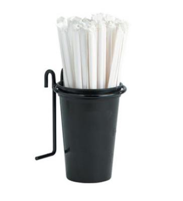 Dispense-Rite WRSTRAW Straw Holder, Hooks onto WR3, WR4 & WR5, Black