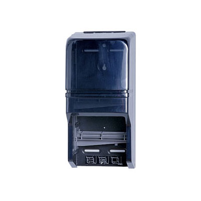 Impact 2519 ClearVu Double Roll Toilet Tissue Dispenser, Universal Rolls, Lock