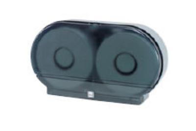 Impact 2529 ClearVu Toilet Tissue Dispenser, 9 inTwin Jumbo Universal, Lock, Plastic