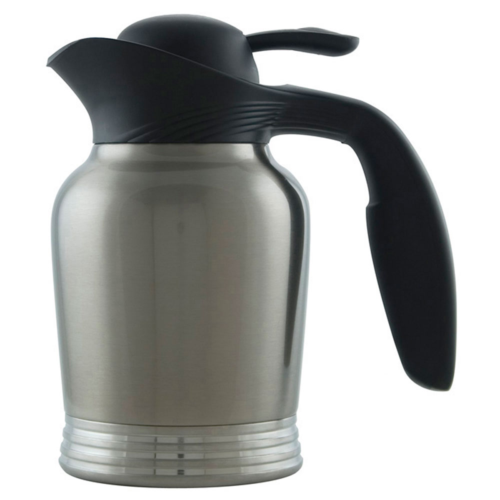 Service Ideas 10-00006-000 .6-liter Vacuum Carafe w/ No Drip Lip, Stainless Insulation