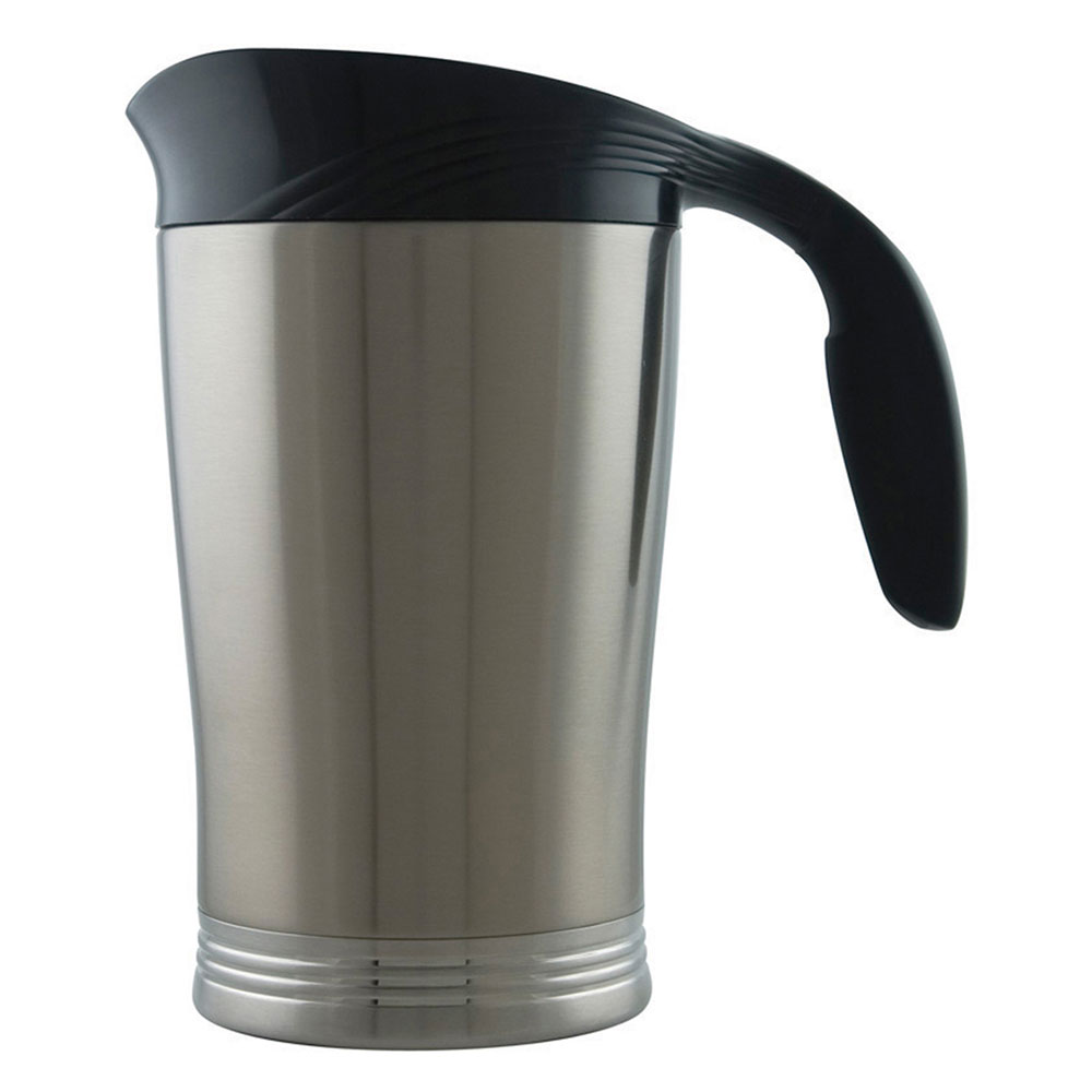 Service Ideas 10-00009-000 64-oz Vacuum Pitcher w/ No Drip Lip, Stainless