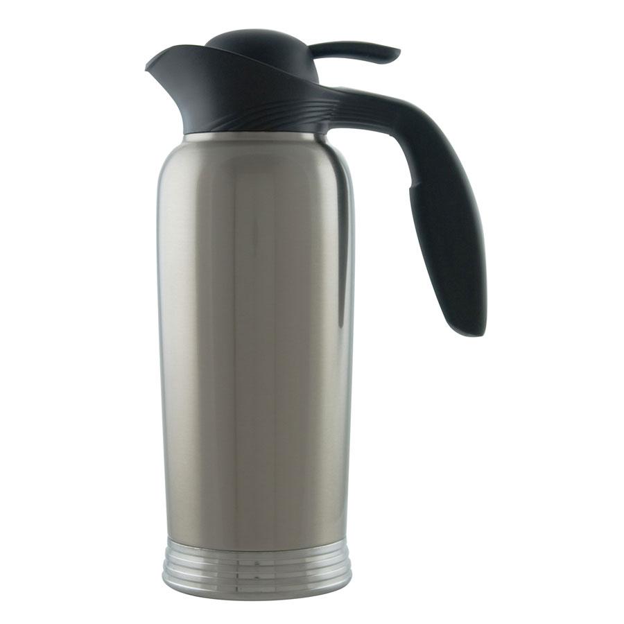 Service Ideas 10-00744-000 1-liter Creamer w/ No Drip Lip, Stainless Vacuum Insulation