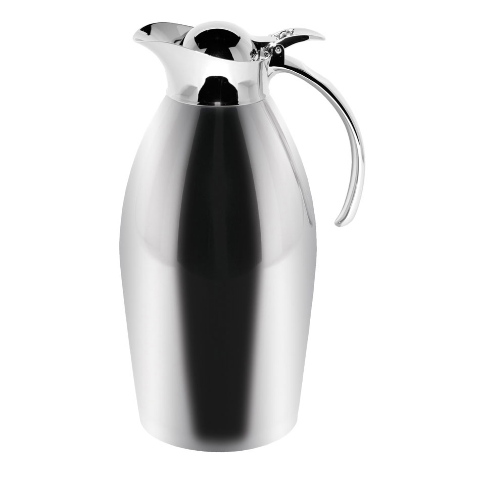 Service Ideas 98115PS 1.5-Liter Carafe w/ Vacuum Insulation, Polished Stainless Finish