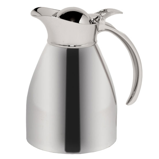 Service Ideas 98206 .6-liter Carafe w/ Vacuum Insulation, Polished Stainless Finish