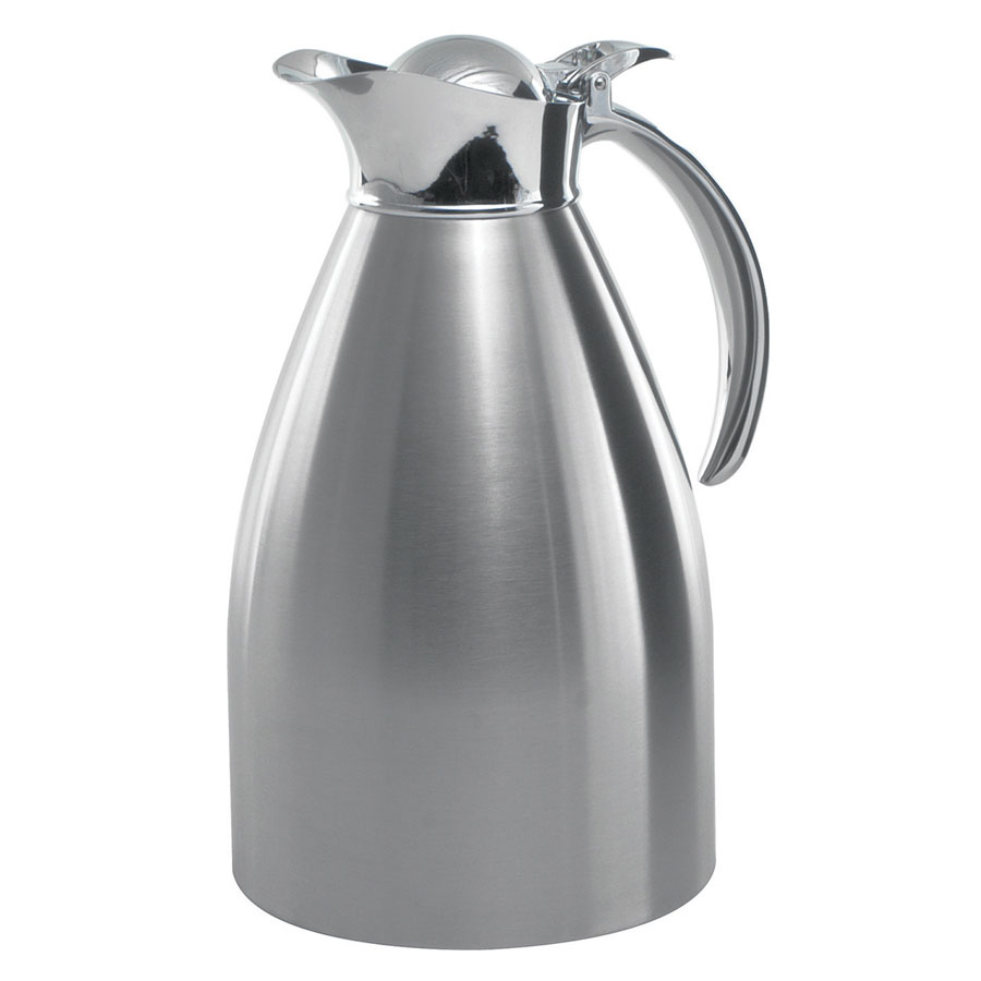 Service Ideas 98215BS 1.5-liter Carafe w/ Vacuum Insulation, Brushed Stainless Finish