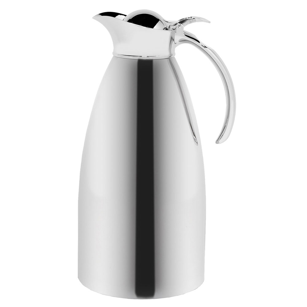Service Ideas 98220 2-liter Coffee Server w/ Flip Top Stopper Lid, Polished Stainless