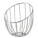 "Service Ideas BKTA Tall Bread Basket, 10 x 11 x 12"", Polished Stainless"