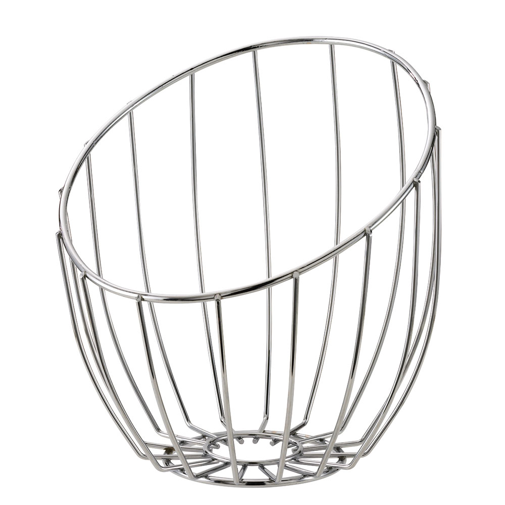 Service Ideas BKTA Tall Bread Basket, 10 x 11 x 12-in, Polished Stainless