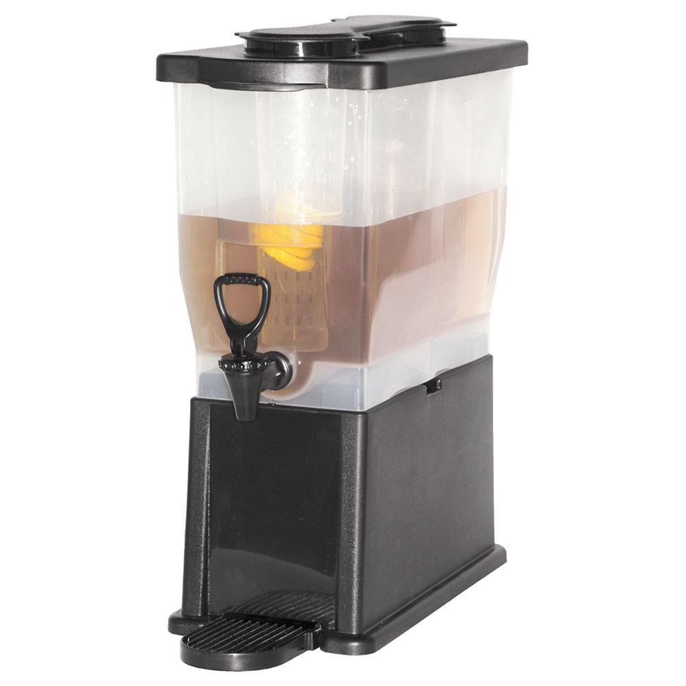 Service Ideas CBDP3BLK 3-Gallon Rectangular Beverage Dispenser w/ Infuser & Ice Tubes