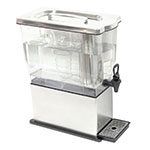 Service Ideas CBDT3SS 3-gal Rectangular Beverage Dispenser - Removable Infuser Basket, Stainless