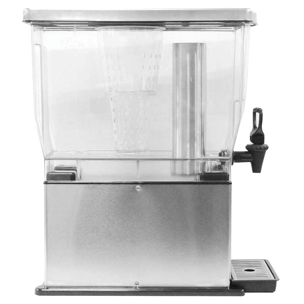 Service Ideas CBDT3SS 3-gal Rectangular Beverage Dispenser - Removable Infuser Basket, Stainless