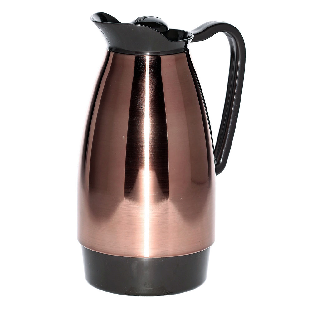Service Ideas CGCS10CP 1-liter Carafe w/ Stainless Interior, Copper, Brown