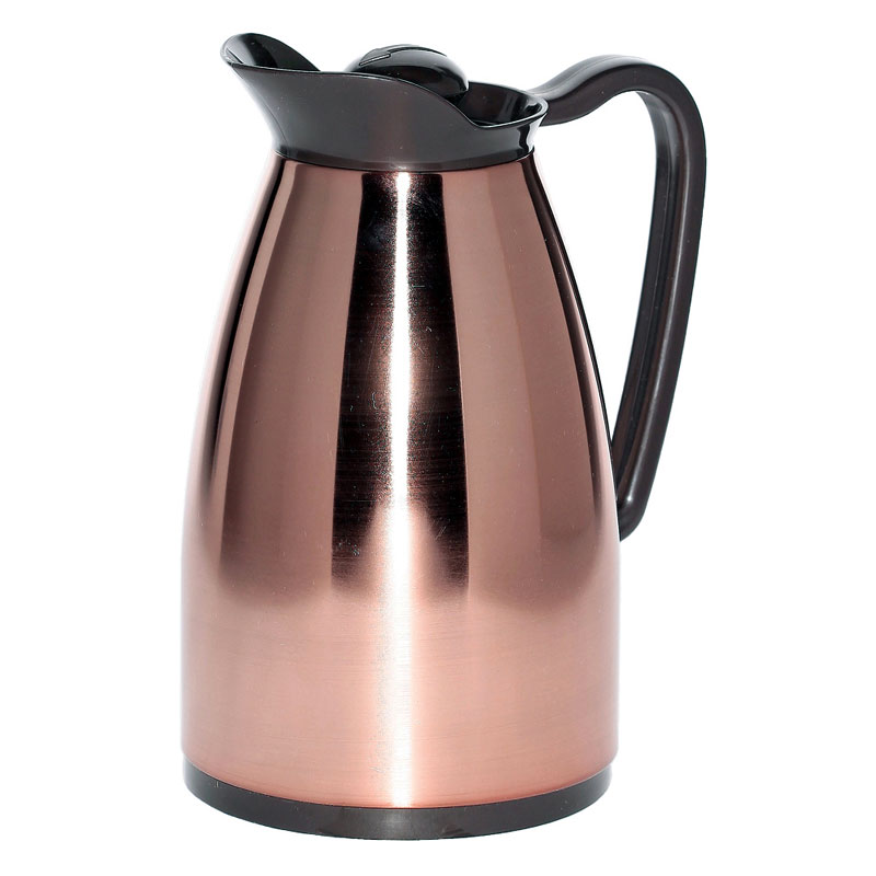 Service Ideas CGCS6CP .6-liter Carafe w/ Stainless Interior, Copper, Brown