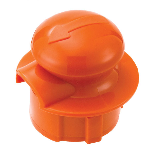 Service Ideas CGSTOPOR Stopper Lid For Classic Glass Carafe, Orange