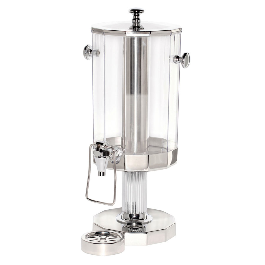 Service Ideas DDC6SSPS Beverage Dispenser w/ 6-liter Capacity & Removable Drip Tray, Polycarbonate