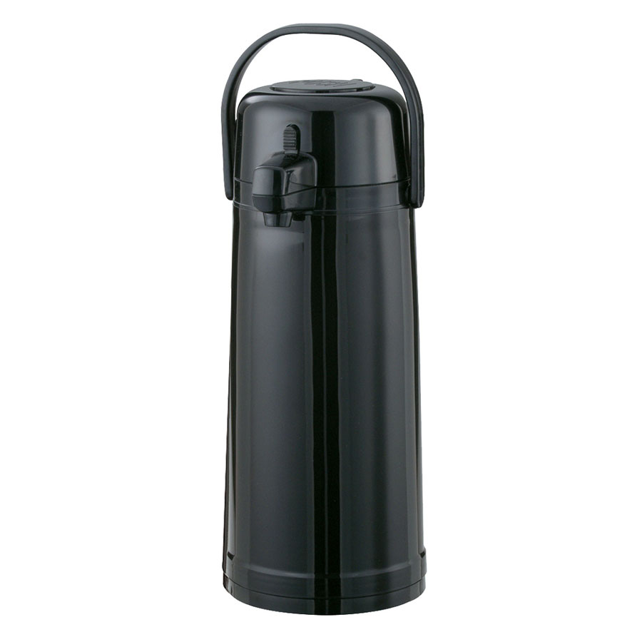 Service Ideas ECA22PBL 2.2-liter Airpot w/ Interchangeable Lid, Vacuum Insulation, Black