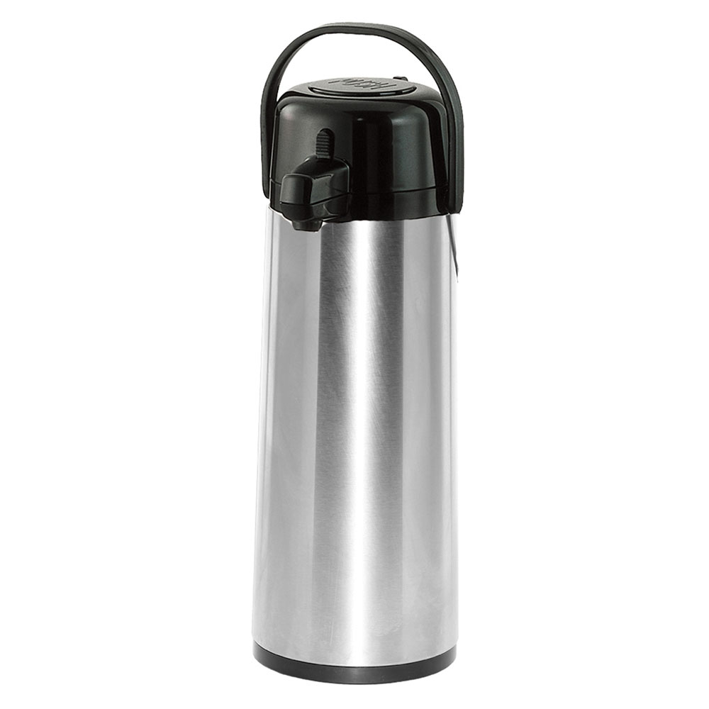 Service Ideas ECA30S 3-liter Pump-Style Airpot - Glass Liner, Stainless