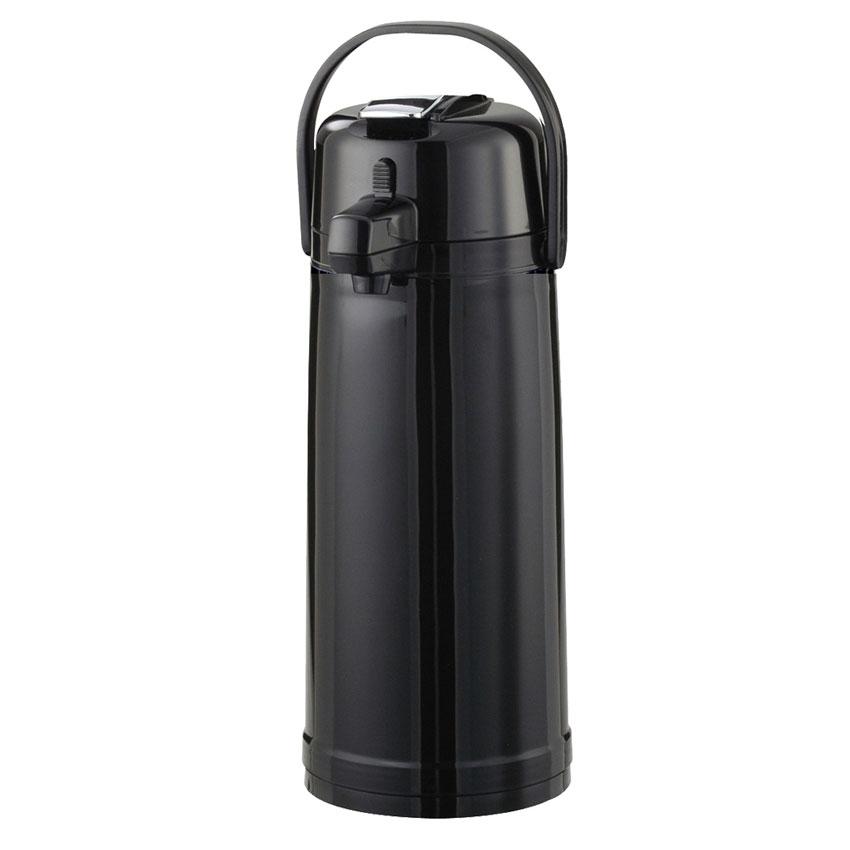 Service Ideas ECAL22PBLK 2.2-liter Airpot w/ Interchangeable Lever Lid, Black, Plastic