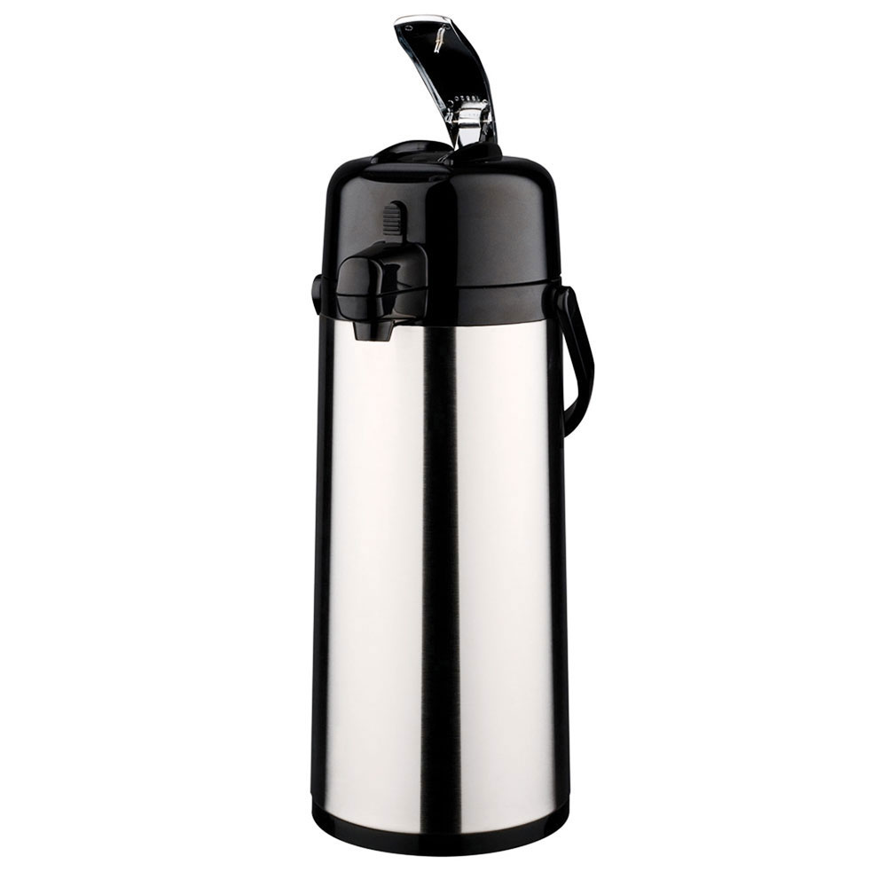 Service Ideas ECAL30S 3-liter Lever-Action Airpot - Glass Liner, Stainless