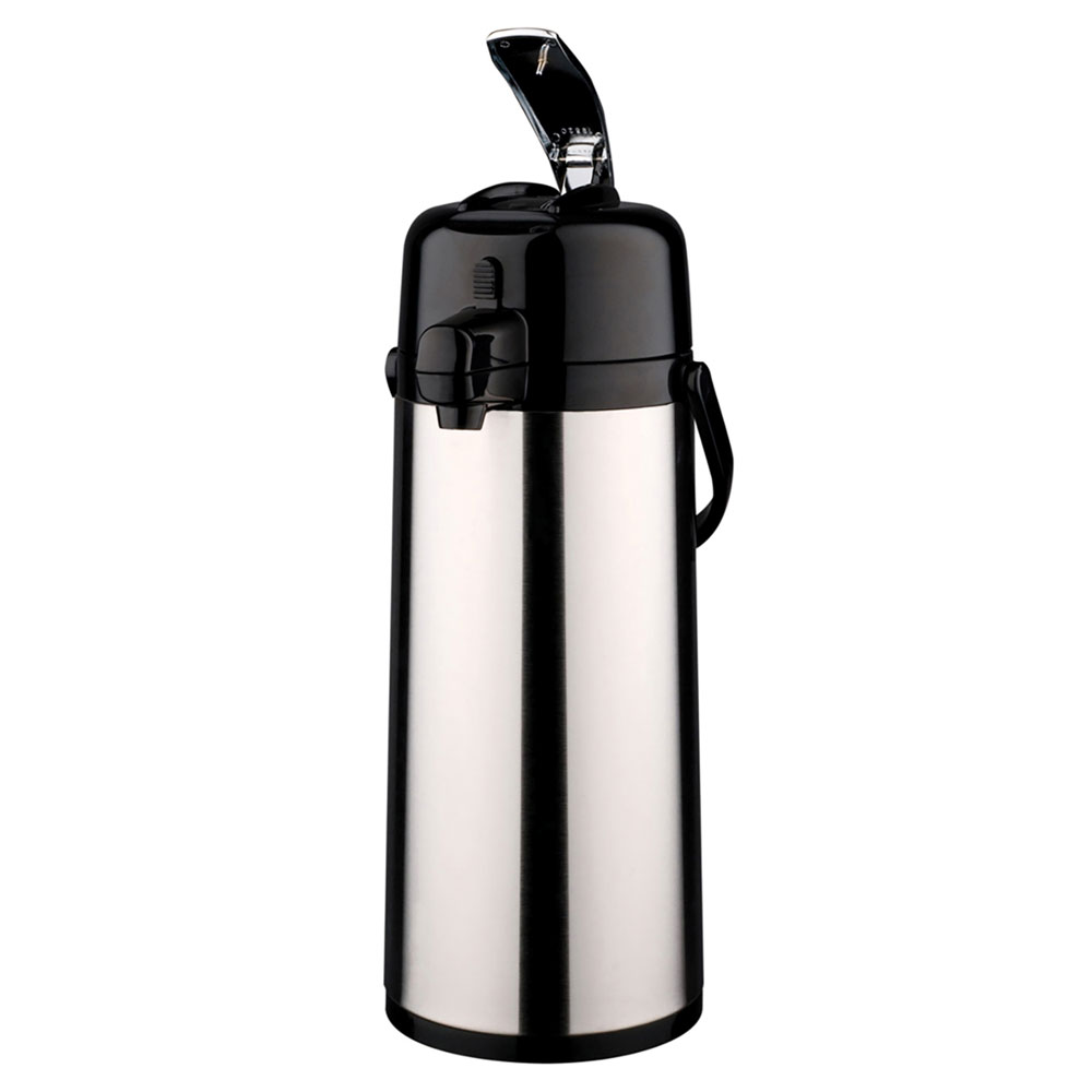 "Service Ideas ECALS22SS 81.1-oz Airpot w/ 6-hr Retention & Lids, 15.25 x 6 x 8"", Black Finish"