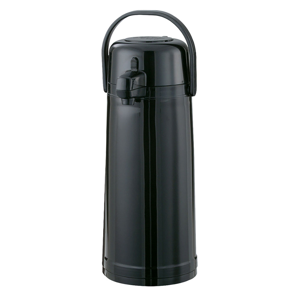 Service Ideas ECAS22SBPBLMAT 2.4-liter Airpot w/ Pump Lid, Black, Matte Finish