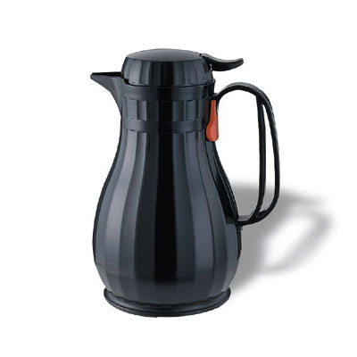 Service Ideas ECO13BL 1.3-liter Server w/ Push Button Lid, Black, Styrenic Resin