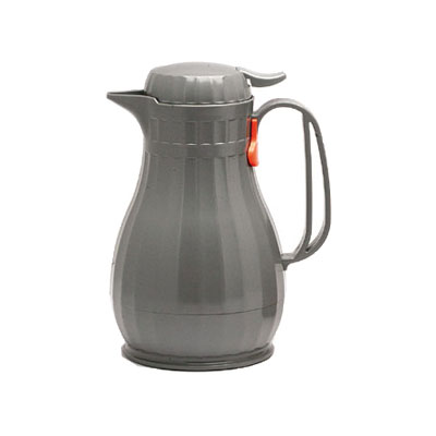 Service Ideas ECO13SLG 1.3-liter Server w/ Push Button Lid, Styrenic Resin, Slate Grey