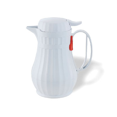Service Ideas ECO13WH 1.3-liter Server w/ Push Button Lid, Styrenic Resin, White