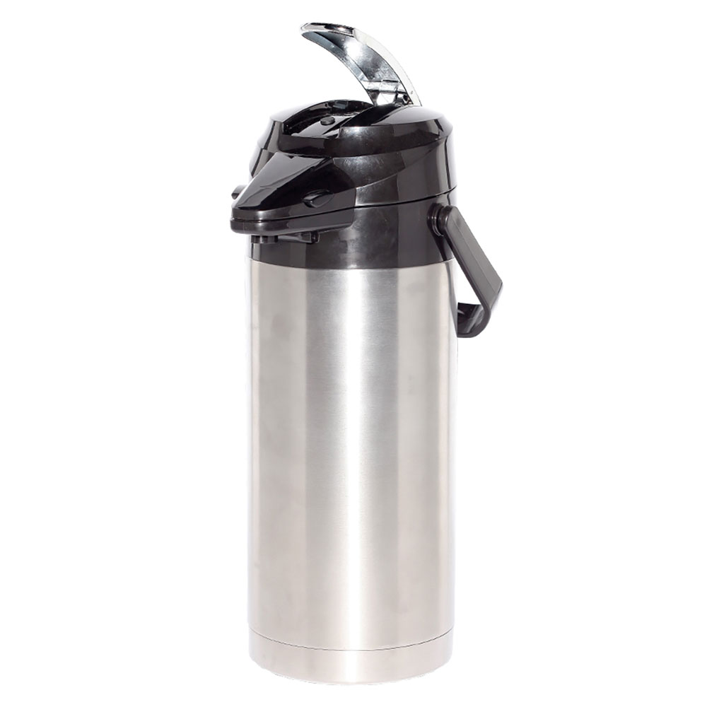 Service Ideas ENALG19S 1.9-liter Lever-Action Airpot - Glass Liner, Stainless