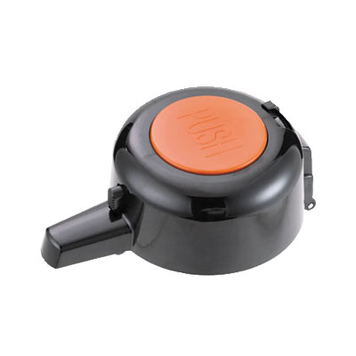 Service Ideas EPLOR Replacement Pump Lid For Eco & SECA-Air, Black w/ Orange Inset