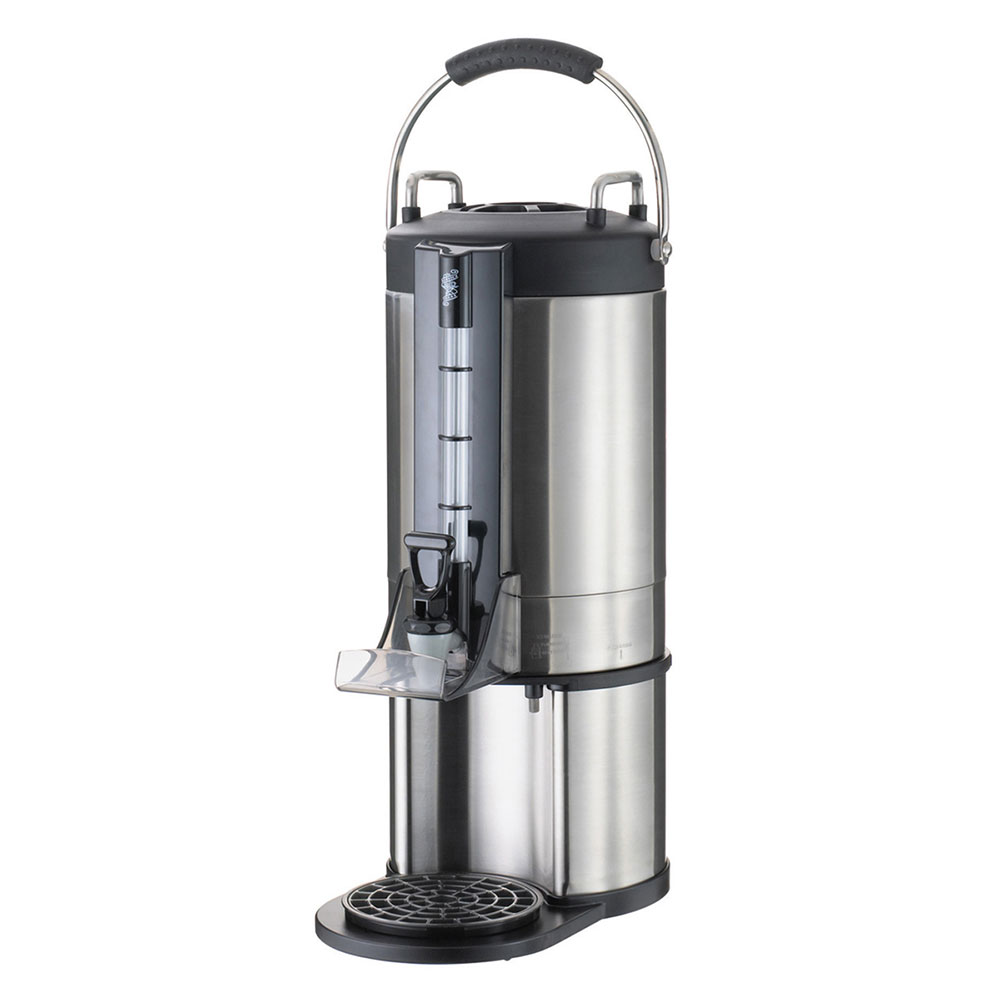 Service Ideas GIU15G 1.5-Gallon Brew-Thru Thermal Container w/ Drip Tray, Stainless