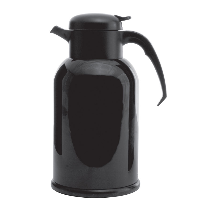 Service Ideas H100B 1-liter Modern Coffee Server w/ Glass Liner, Painted Shell, Black