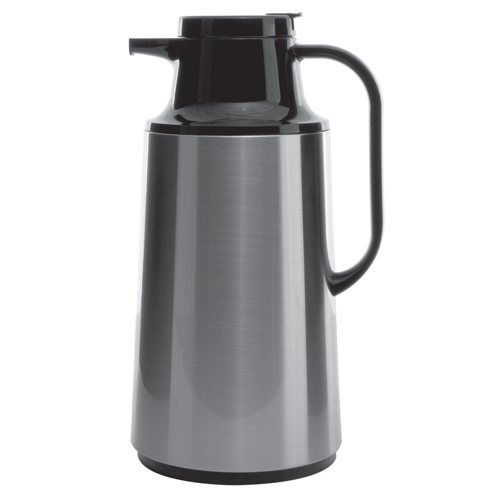 Service Ideas HPS191 1.9-liter Coffee Server w/ Stainless Shell, Brushed Stainless, Black