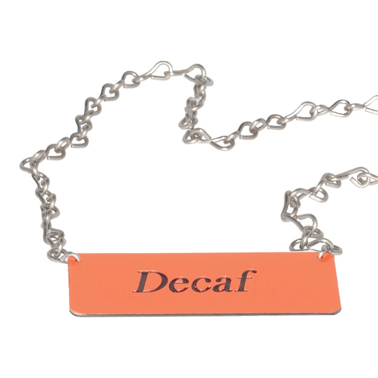 Service Ideas IDCHDE ID-Chain for Airpot Cover-Ups, DECAF, 3.5 x 1.5""