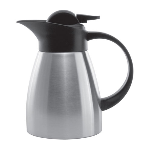 Service Ideas KVP67 .6-liter Stainless Touch Coffee Server, Brushed Stainless & Black