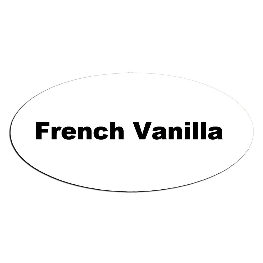 Service Ideas MFTFV Oval Magnetic Flavor Tag, French Vanilla