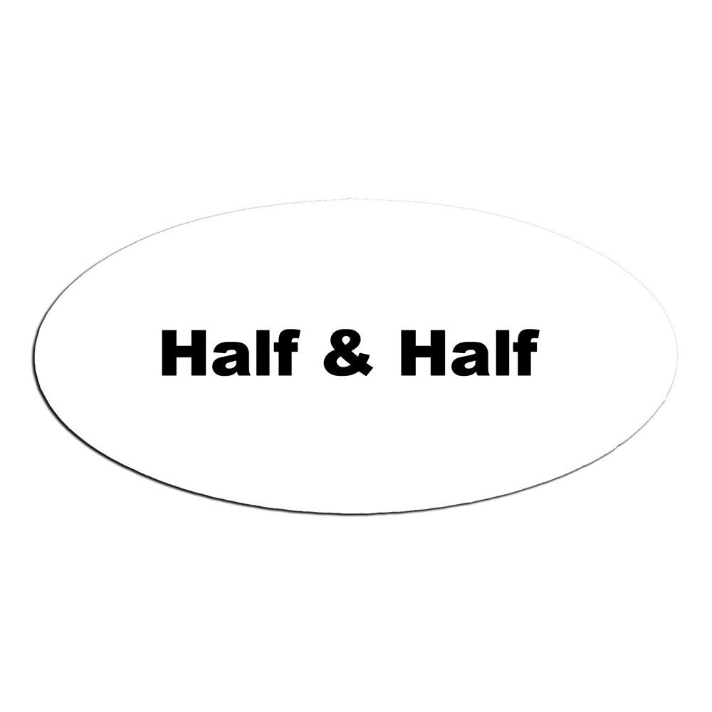 Service Ideas MFTHH Oval Magnetic Flavor Tag, Half & Half